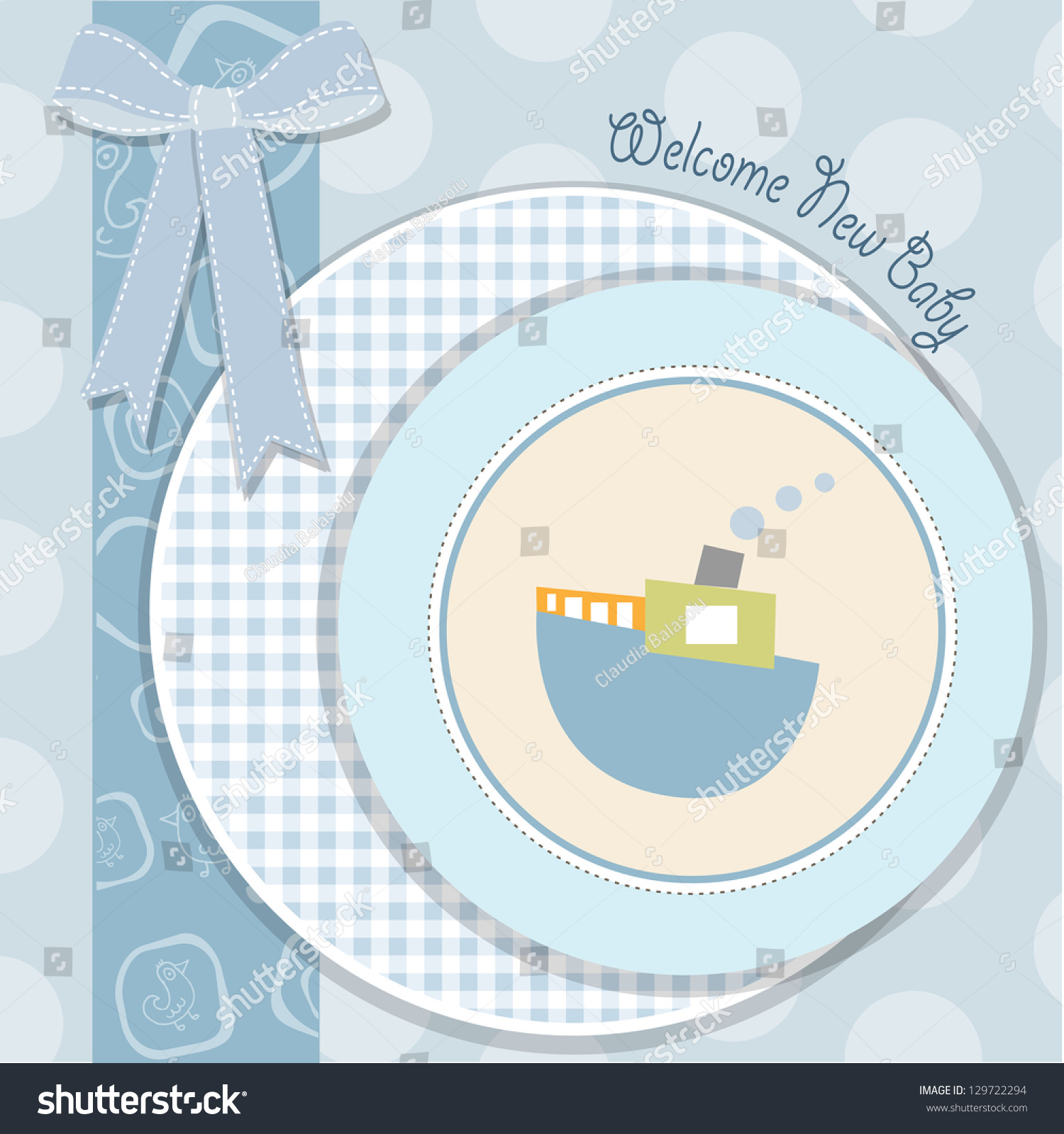 Baby shower invitation vector format stock vector 129722294 baby shower invitation in vector format stopboris Choice Image