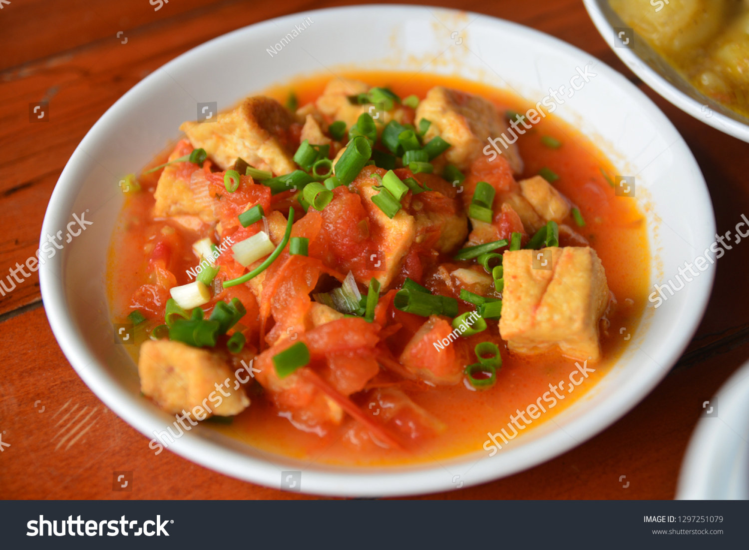 Ajoarriero tomato with tofu soup, Vietnam food #1297251079
