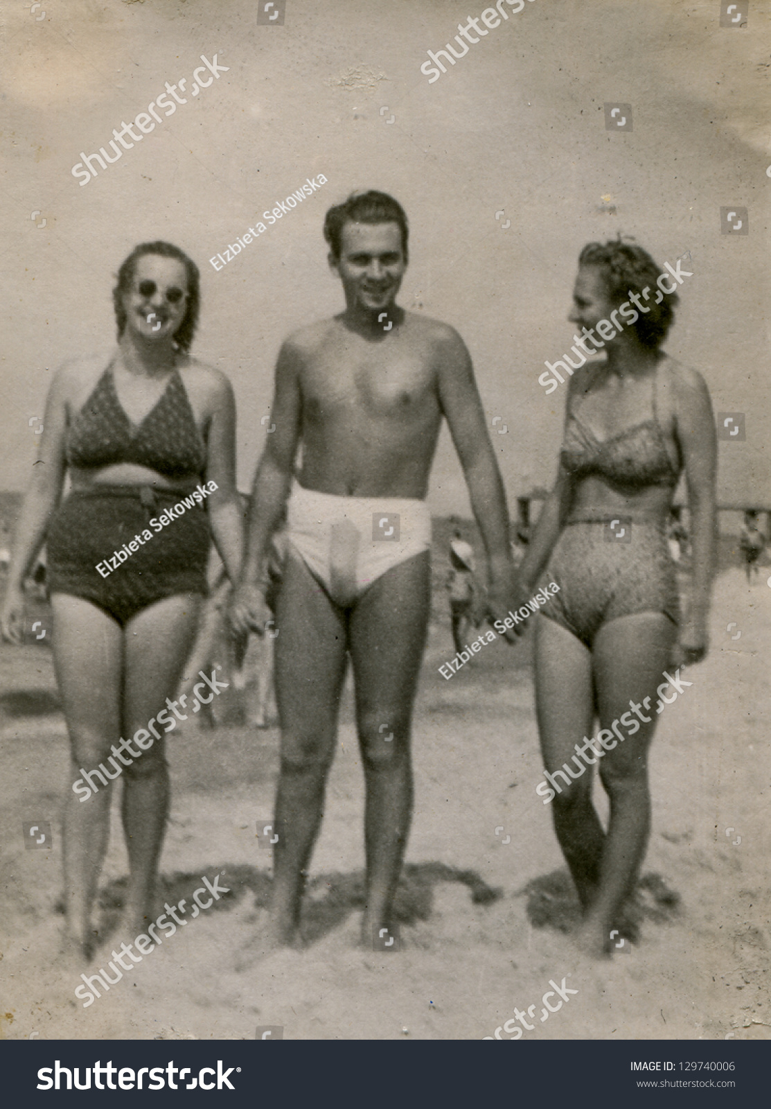 Vintage photos of women bathing