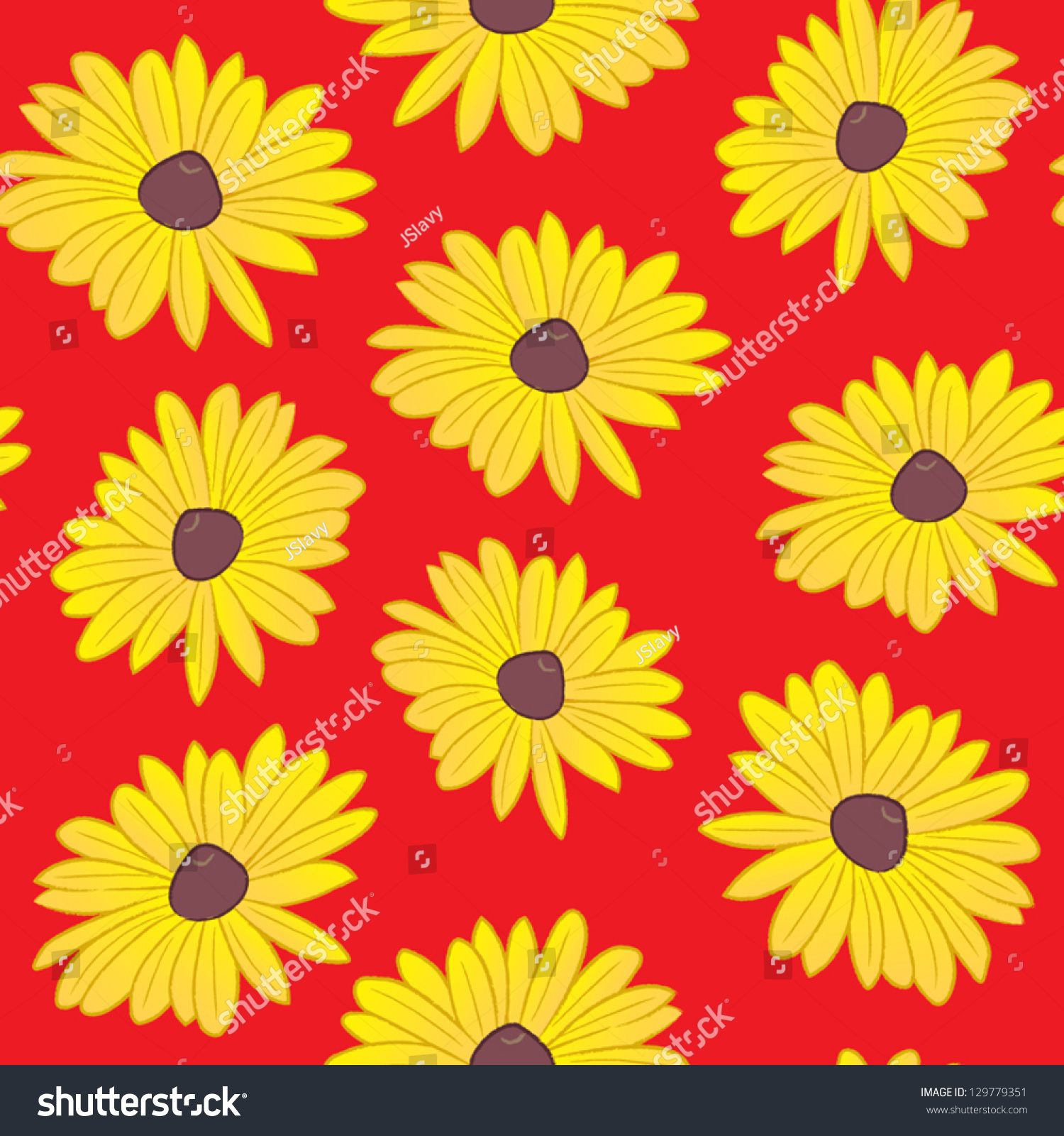 A Seamless Pattern The Maryland State Flower The Black Eyed Susan The Co
