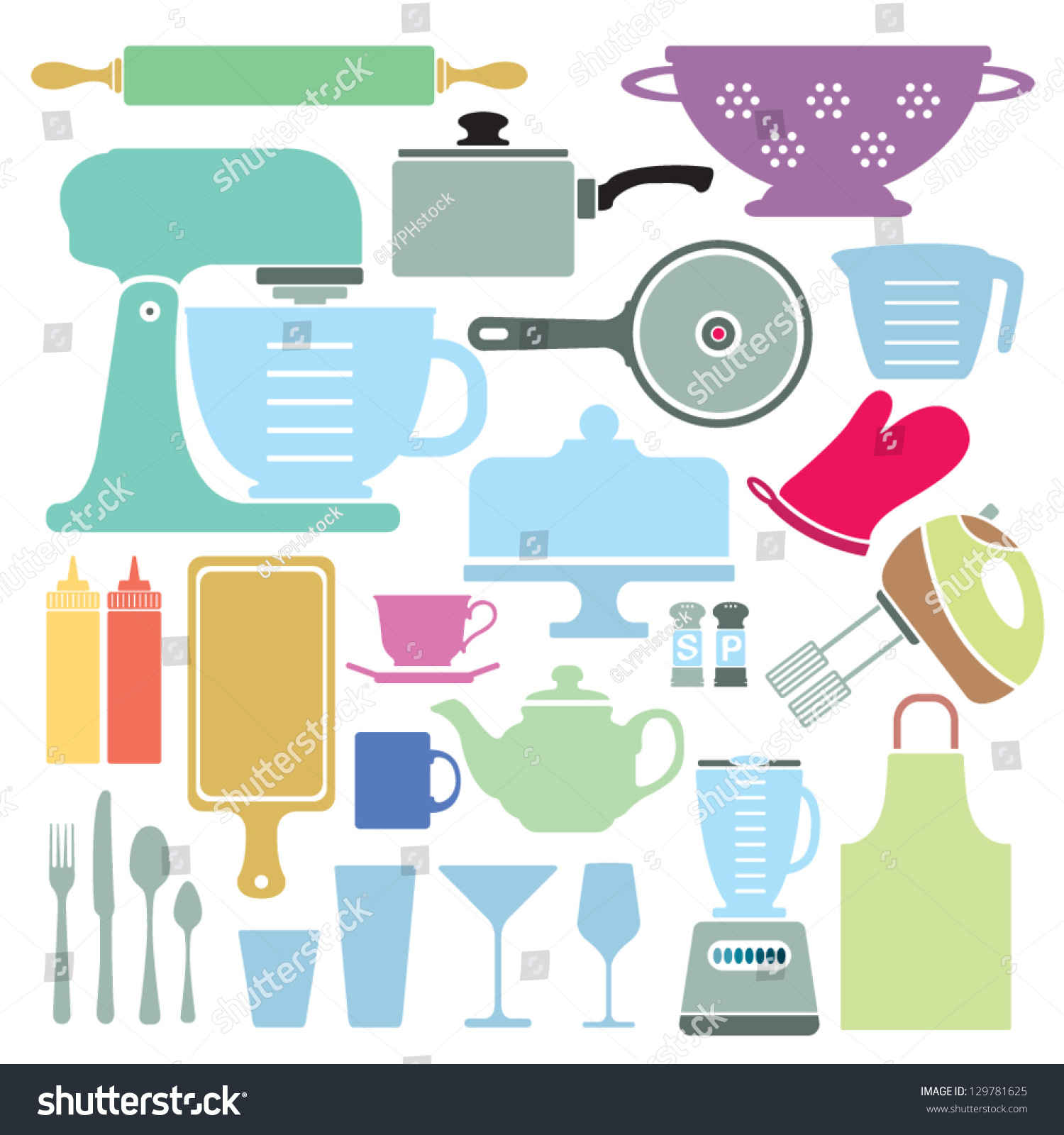 Uncategorized Kitchen Utensils And Appliances stylized vector collection kitchen utensils appliances stock a of and appliances