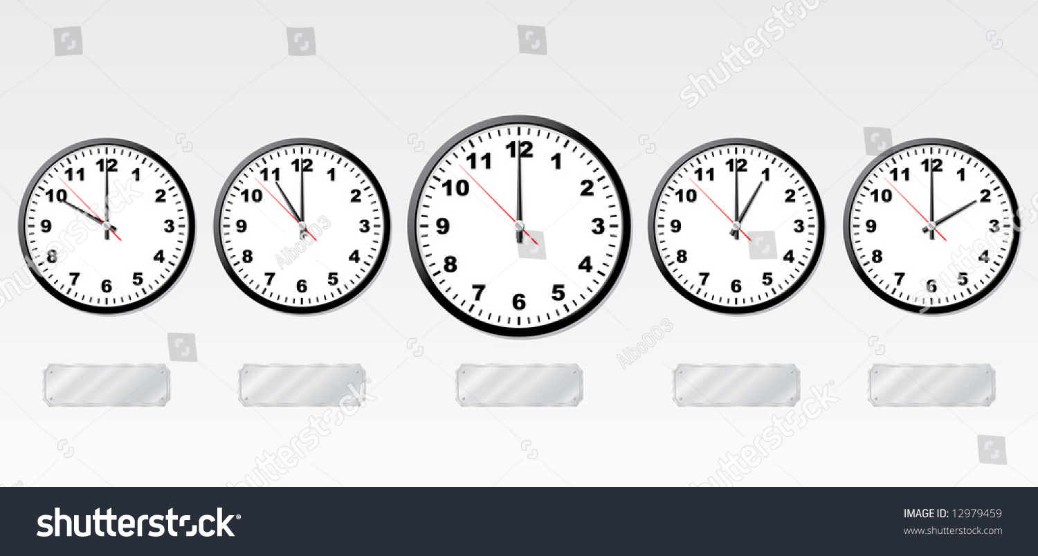 This is a photo of Effortless Time Zone Clock Labels