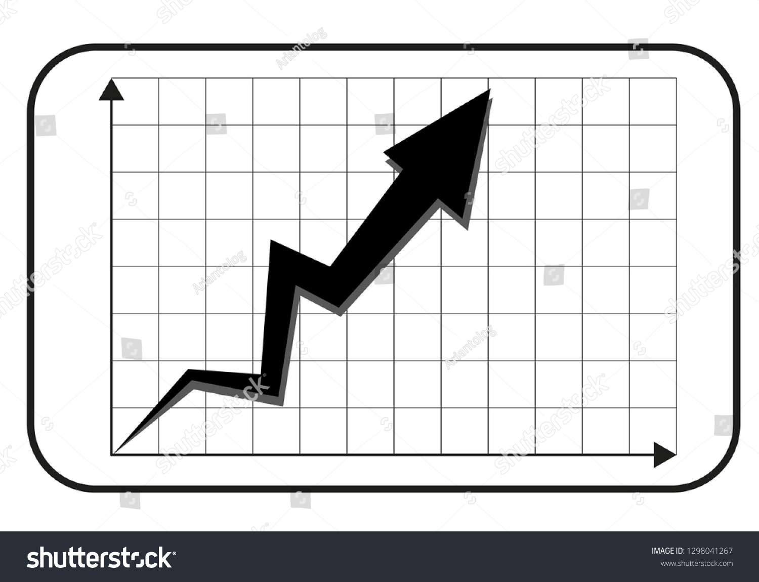Cool Simple Black White Upward Trend Stock Vector Royalty