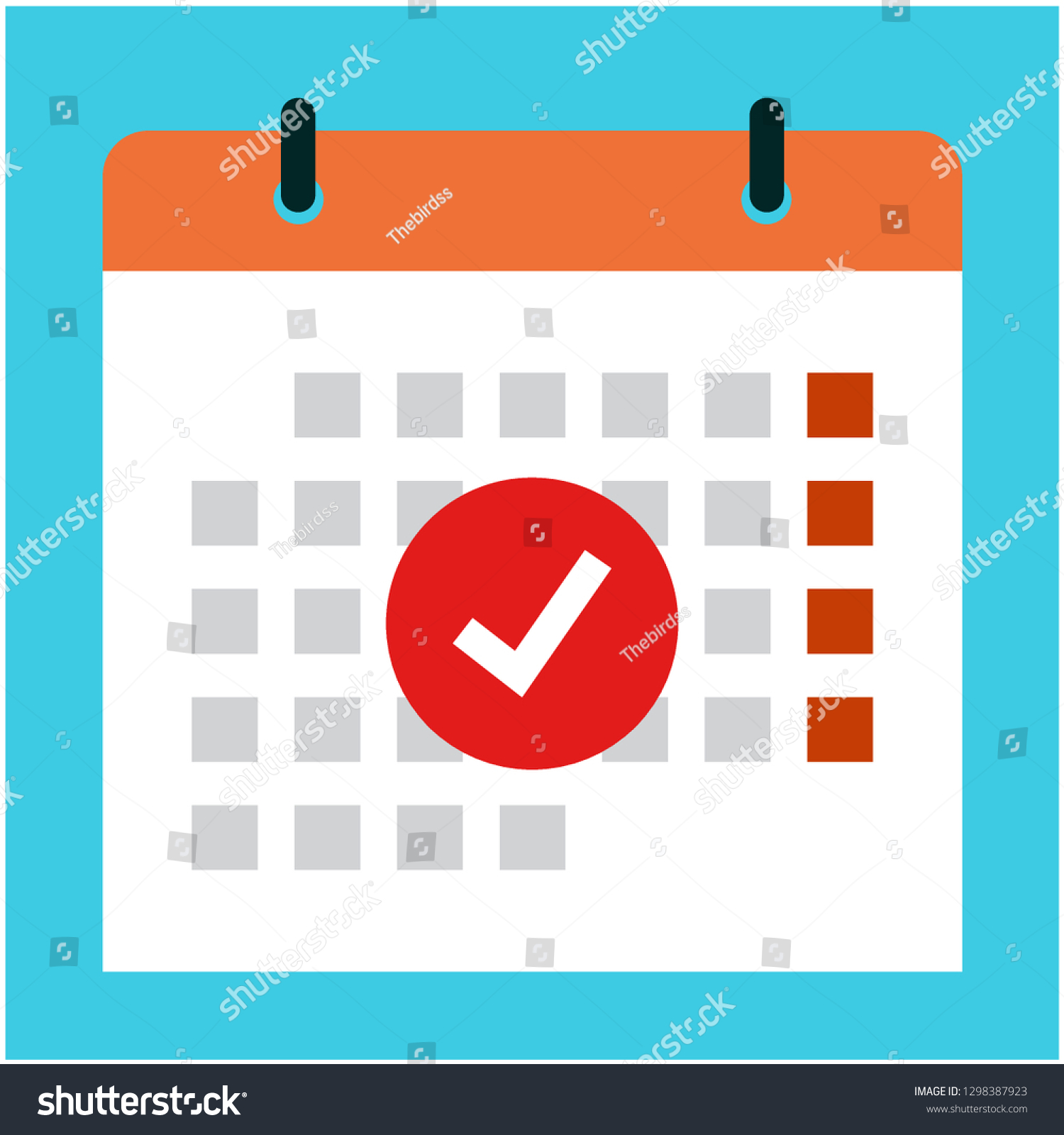 Vector Calendar Checked Icon Schedule Appointment Stock Vector