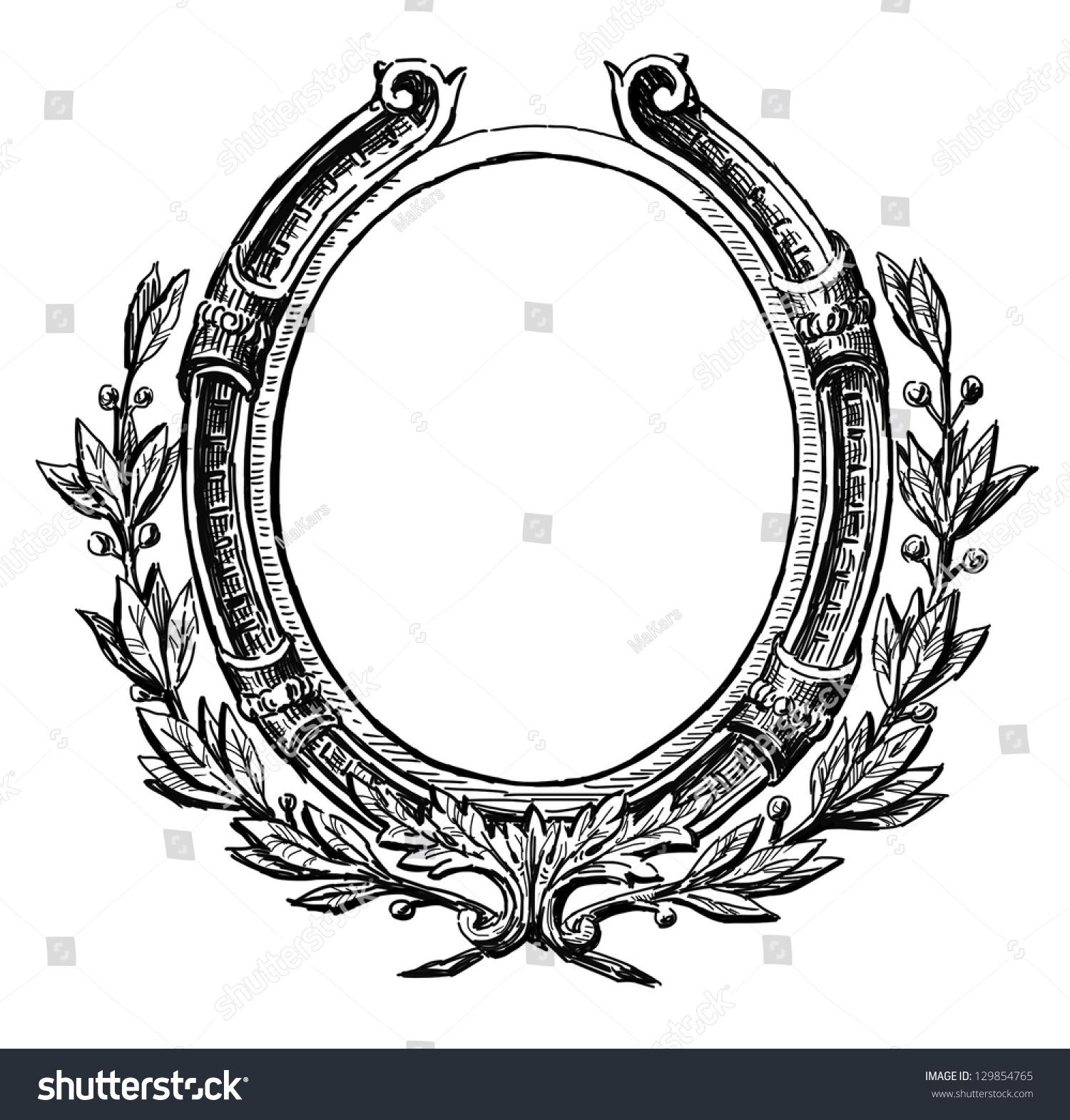 decorative round frame