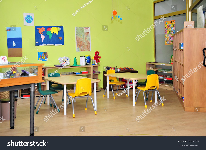 Worksheet Preschool Kindergarten kindergarten preschool classroom interior stock photo 129864998 interior