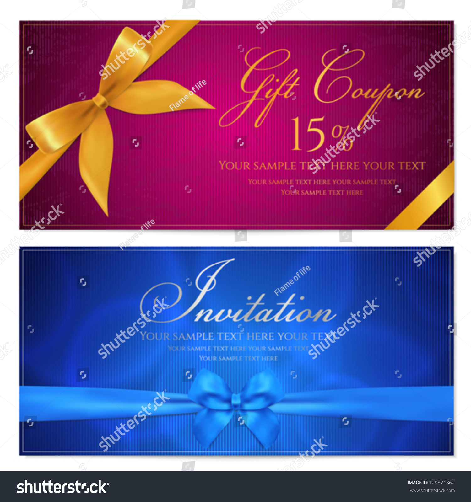 gift card template corrugated texture gift stock vector
