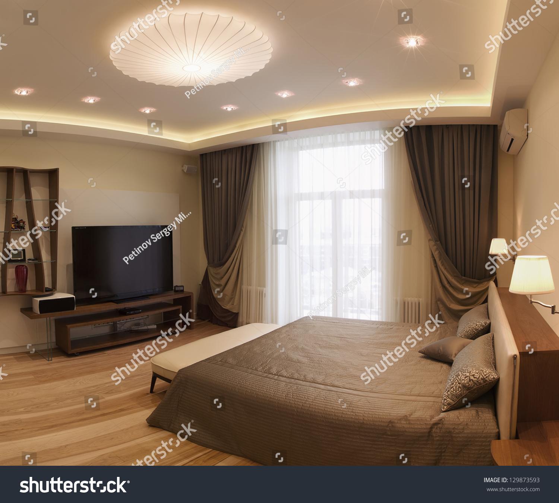 Panoramic Interior Design Series Of Nice Cozy Bedroom