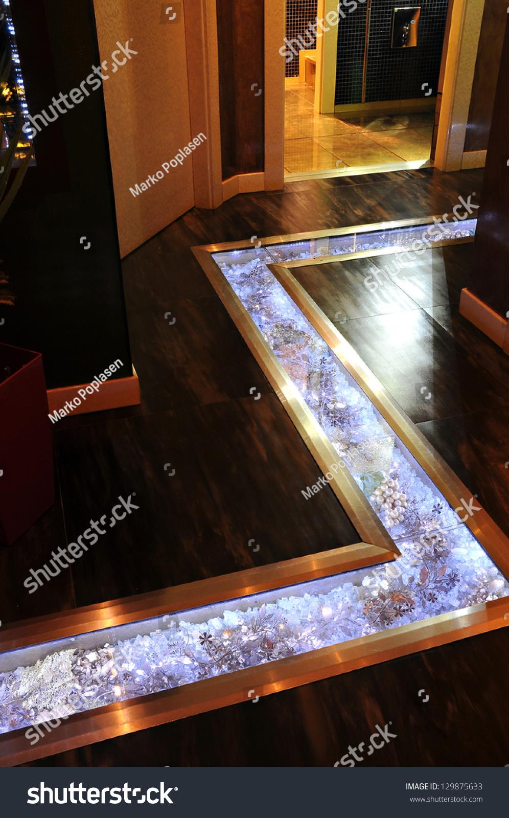 Glass Floor In Restaurants Vestibule