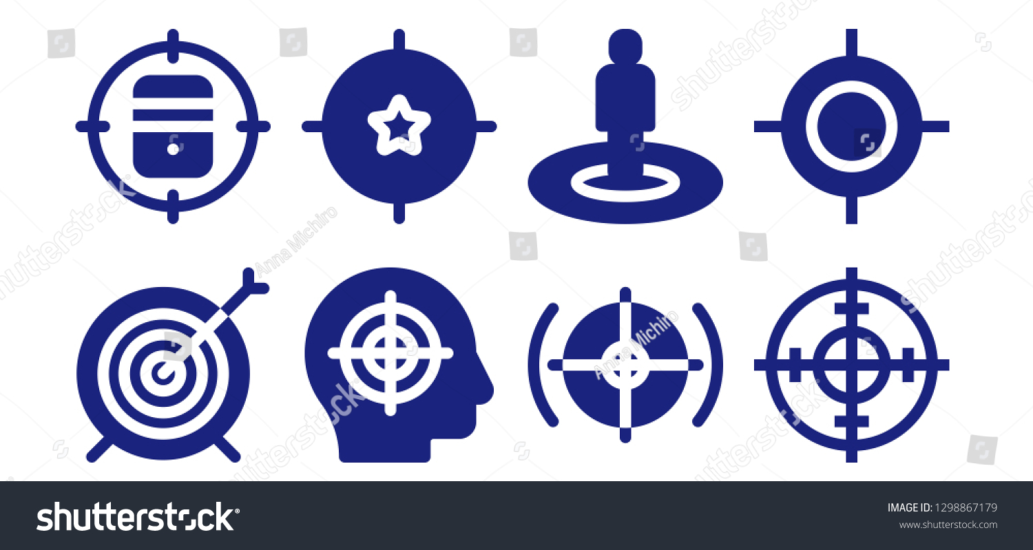 advantage icon set 8 filled advantage stock vector royalty free 1298867179 shutterstock