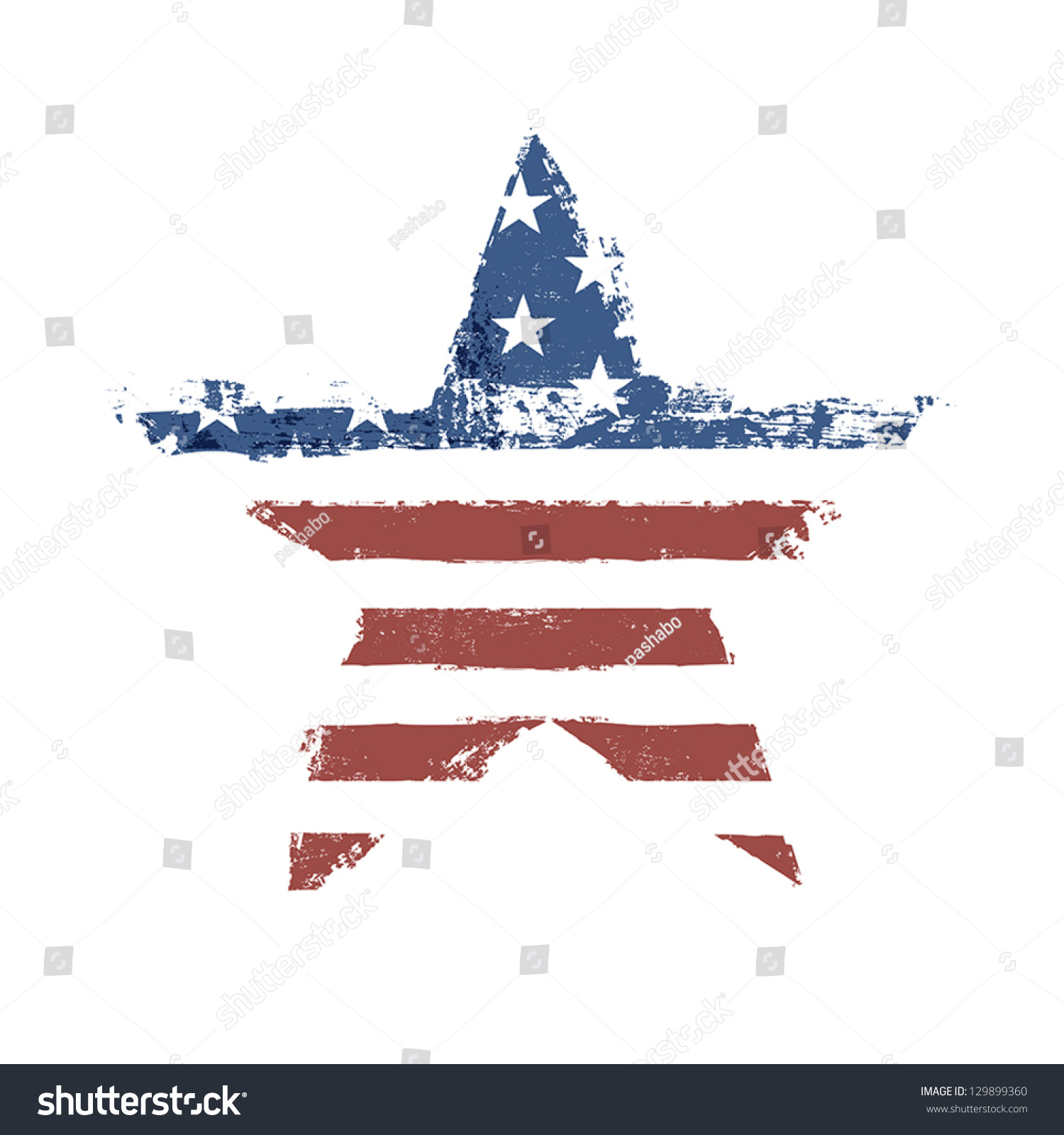 American flag print star shaped symbol stock vector 129899360 the american flag print as star shaped symbol vector eps10 biocorpaavc Choice Image