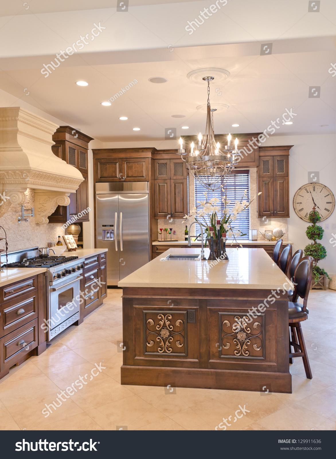 Interior Design Luxury Modern Kitchen Vertical  Buildings
