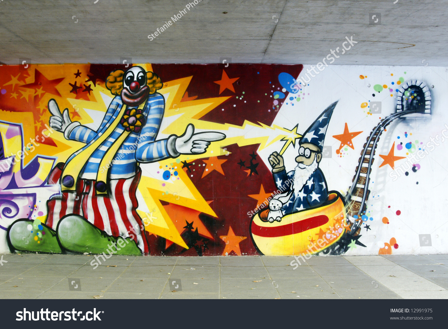 Graffiti clown wizard stock photo edit now 12991975