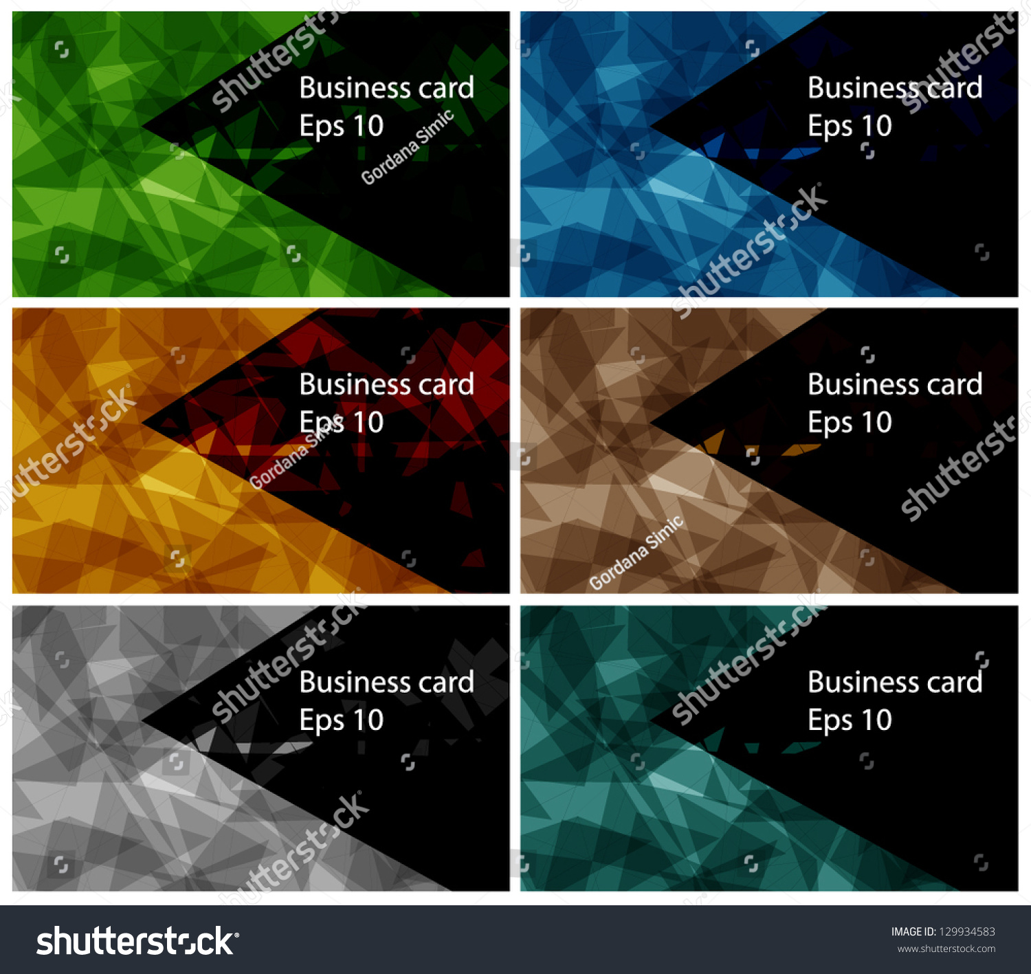 set templates business card 2 stock vector shutterstock