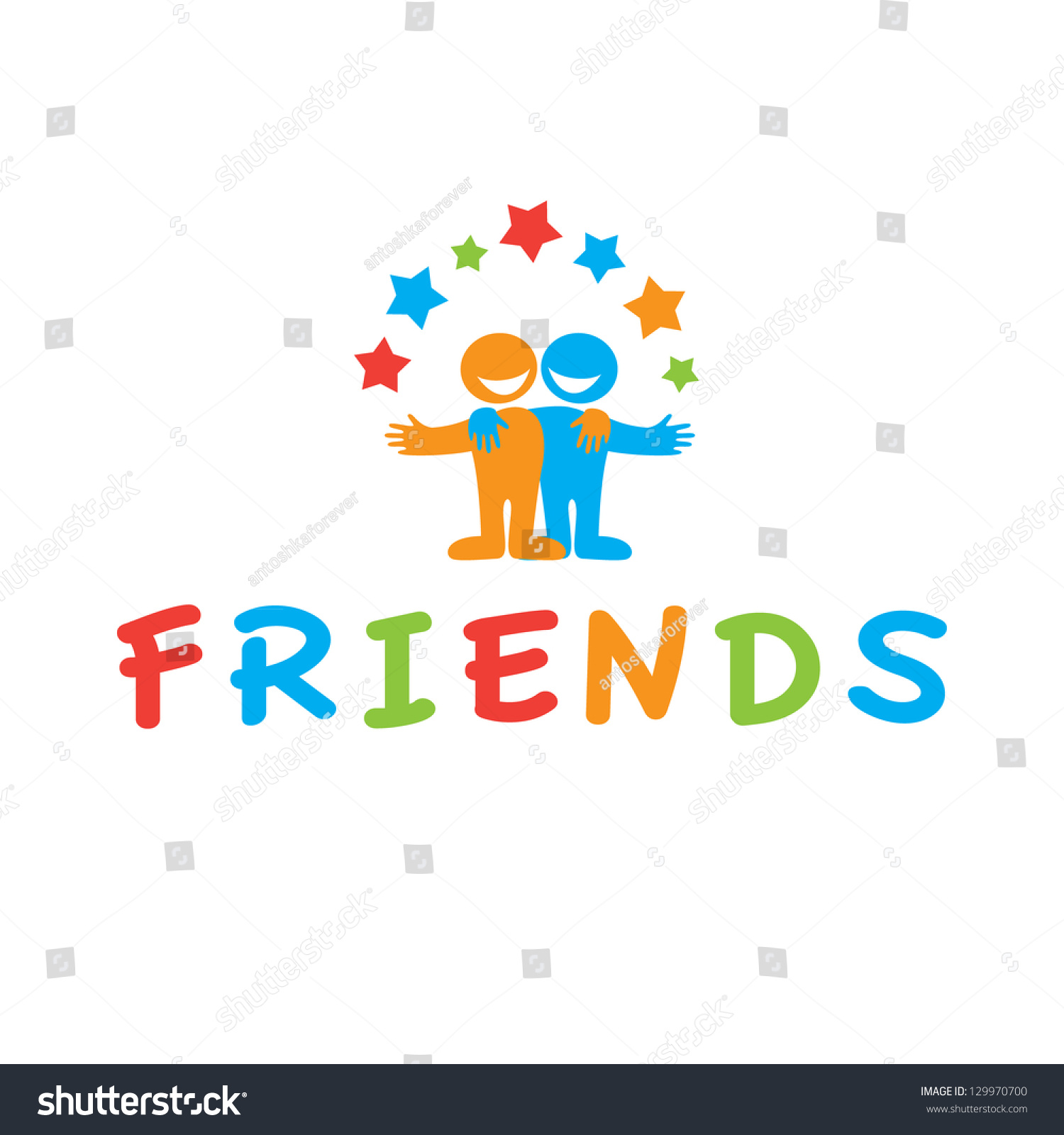 sign of friends vector symbol of friendship 129970700