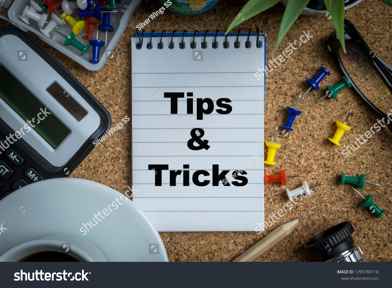 TIPS TRICKS Inscription Written On Book Stock Photo (Edit Now