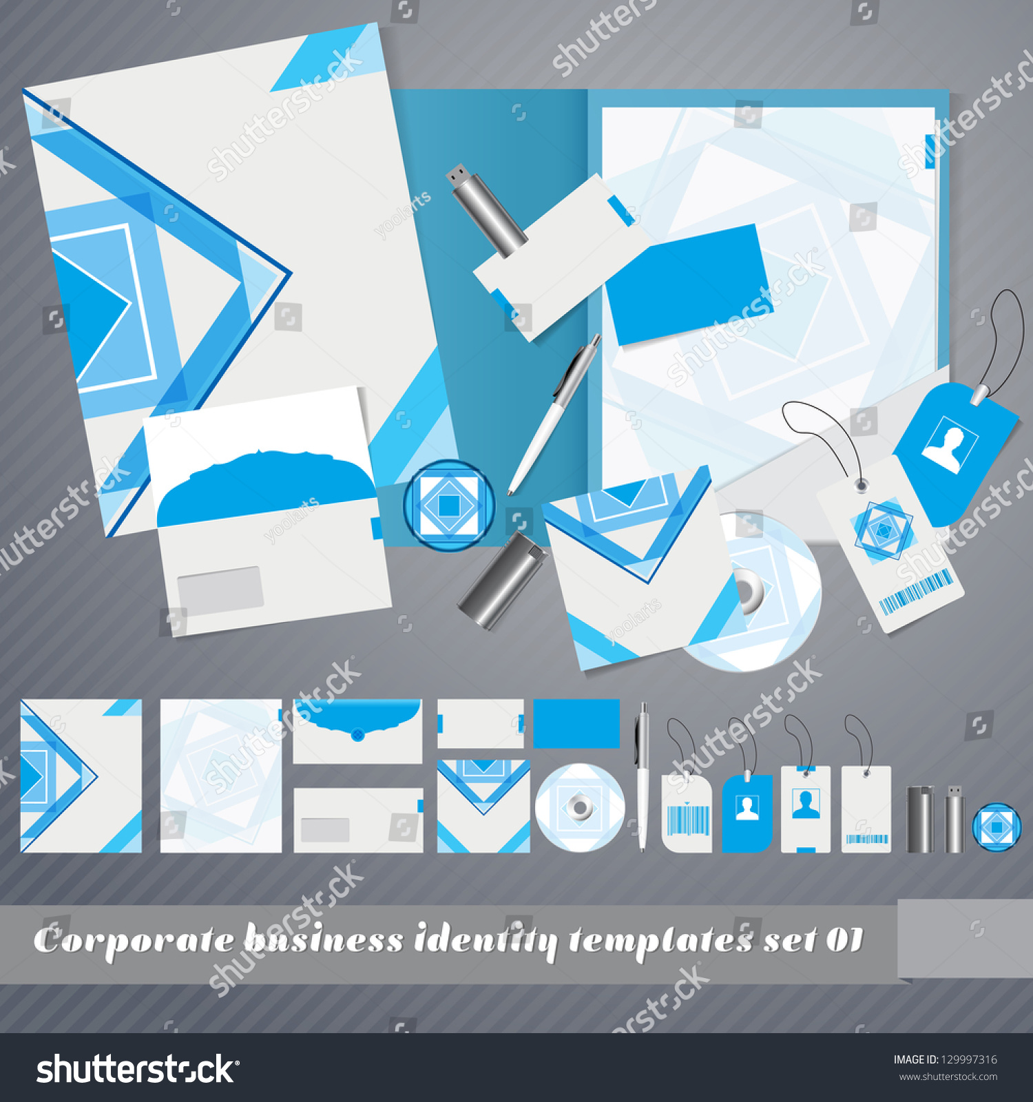 corporate identity templates design folder business stock