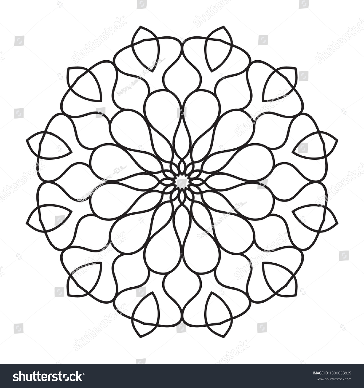 Mandala with Floral Pattern coloring page | Free Printable Coloring Pages | 1600x1500