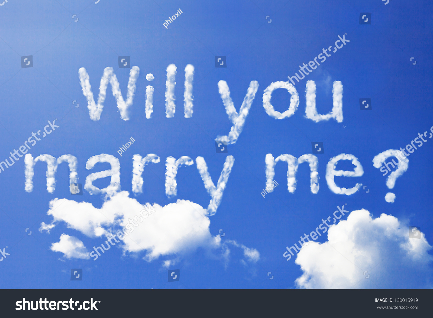 Will You Marry Me Cloud Word Stock Photo 130015919 ...