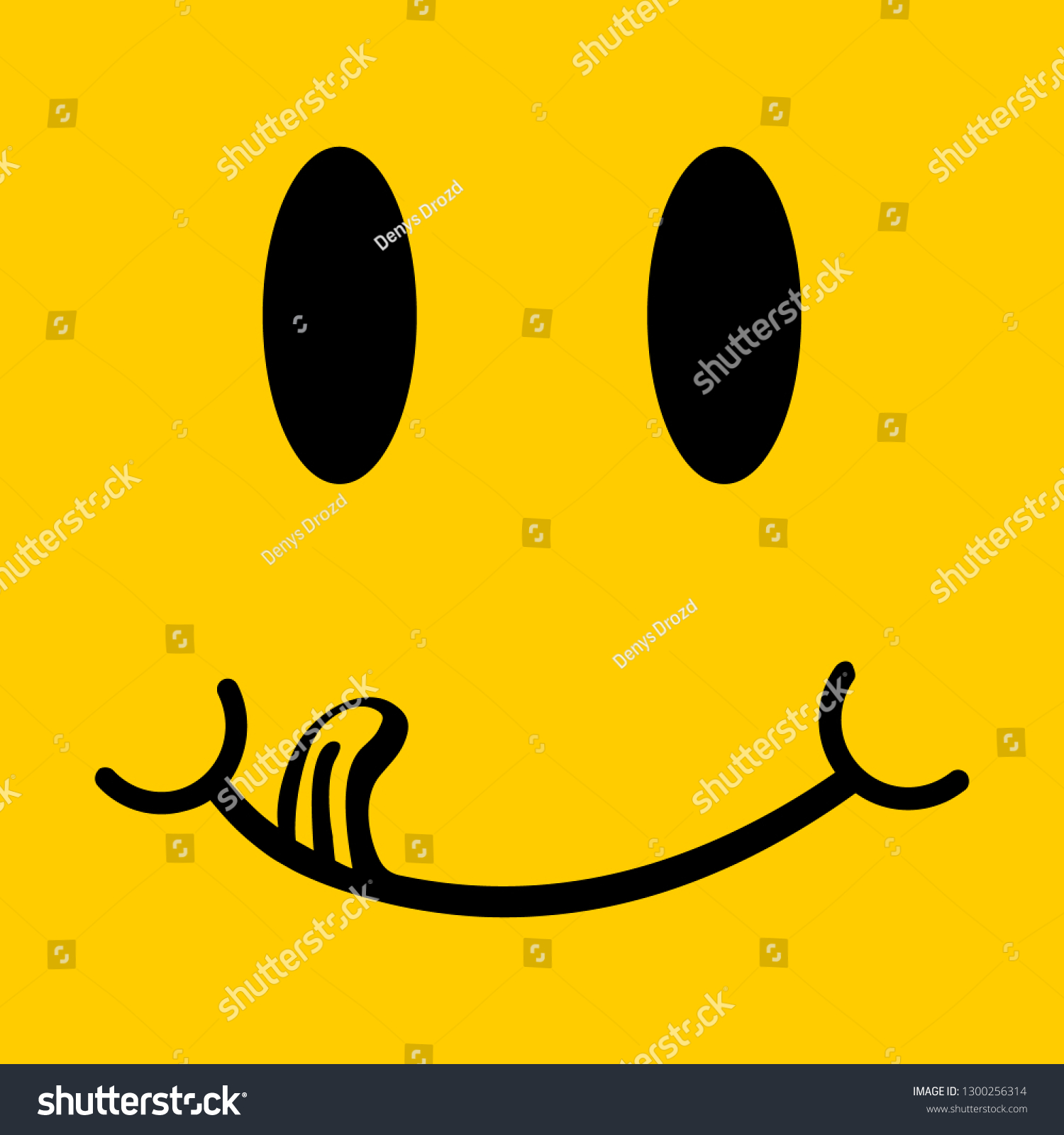 Yummy Smile Vector Illustration Cartoon Line Stock Vector Royalty