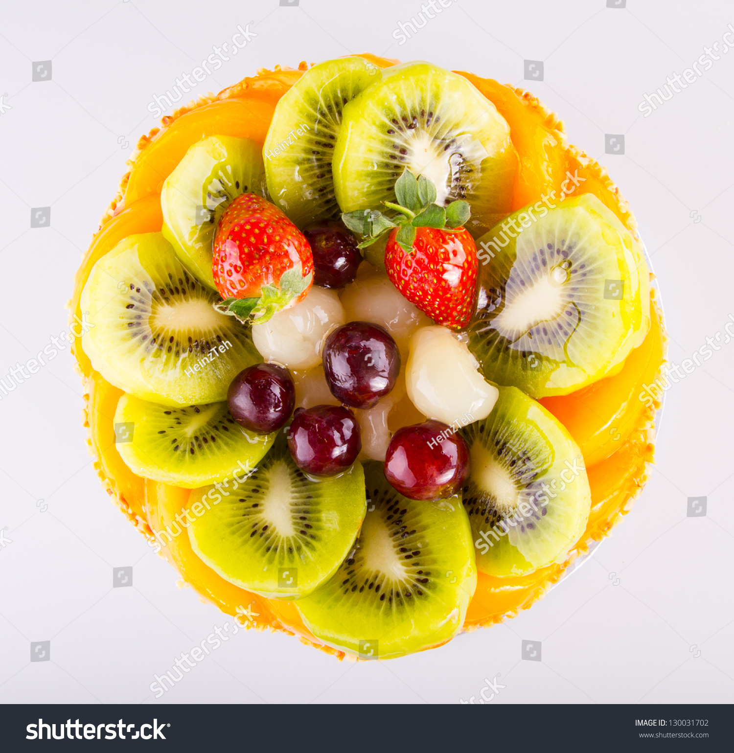 Beautiful Decorated Fruit Cake Stock Photo 130031702 ...