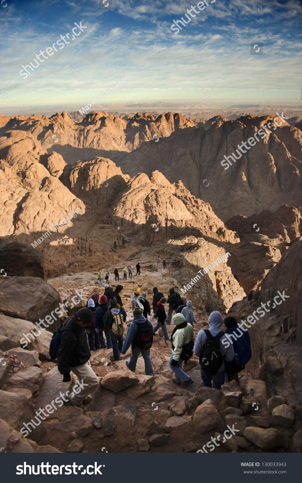 Climbing Mount Sinai Egypt Stock Photo Edit Now 130033943