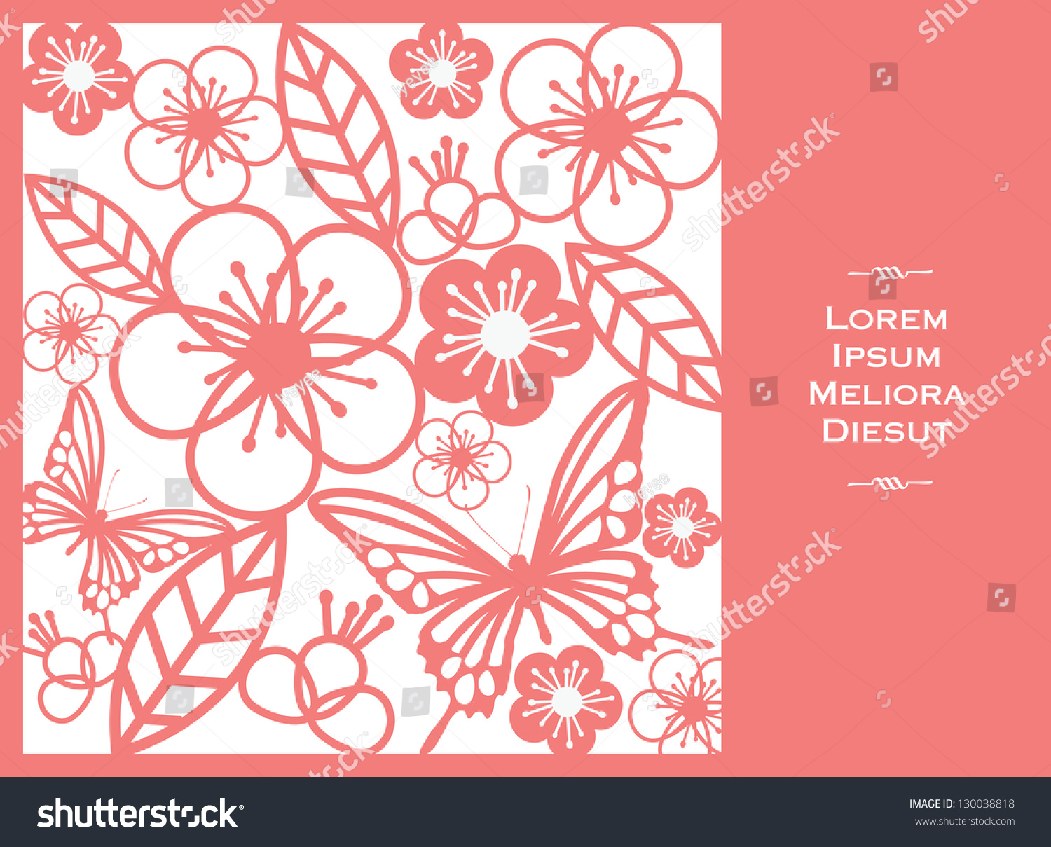 Vintage Chinese Paper Cutting Template Vectorillustration Stock ...
