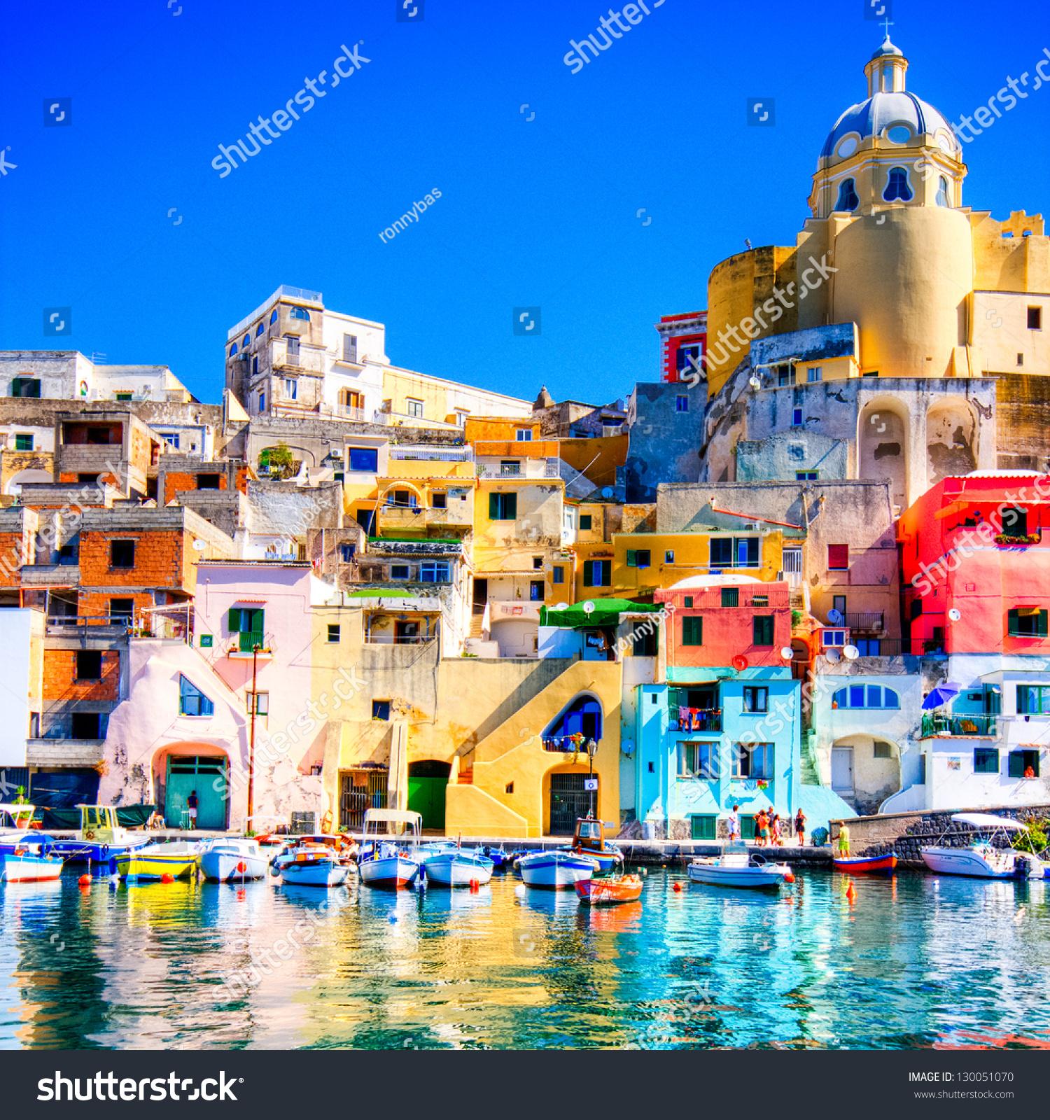 Colorful Island Procida Naples Italy Stock Photo 130051070