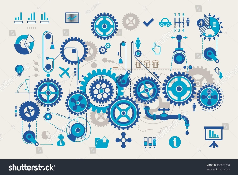 Vector Gear Info Graphic Elements Stock Vector 130057700 ...