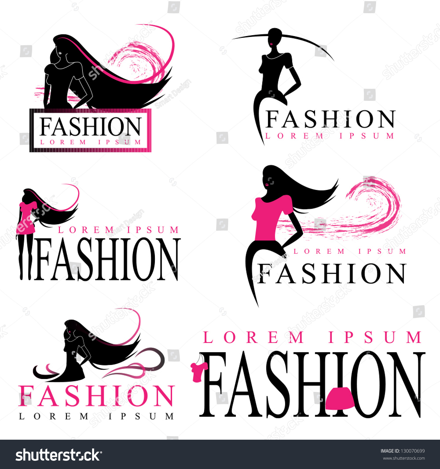 Fashion Woman Silhouette Isolated On White Stock Vector