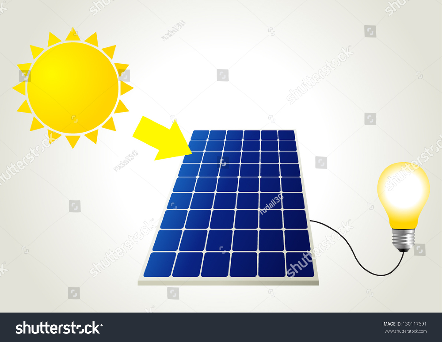 Schematic Illustration Solar Energy Stock Vector Royalty Free Power Related Schematics Of