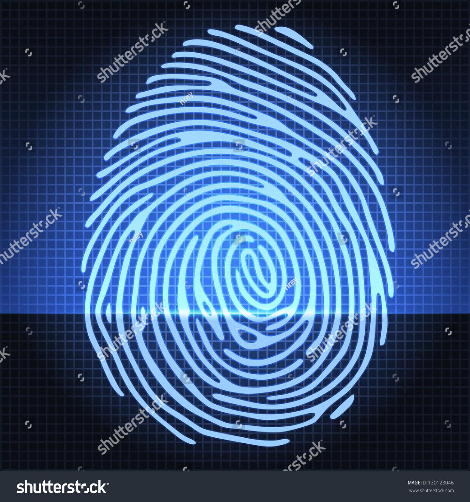 Fingerprint Identification Scanning System Finger Print Stock ...