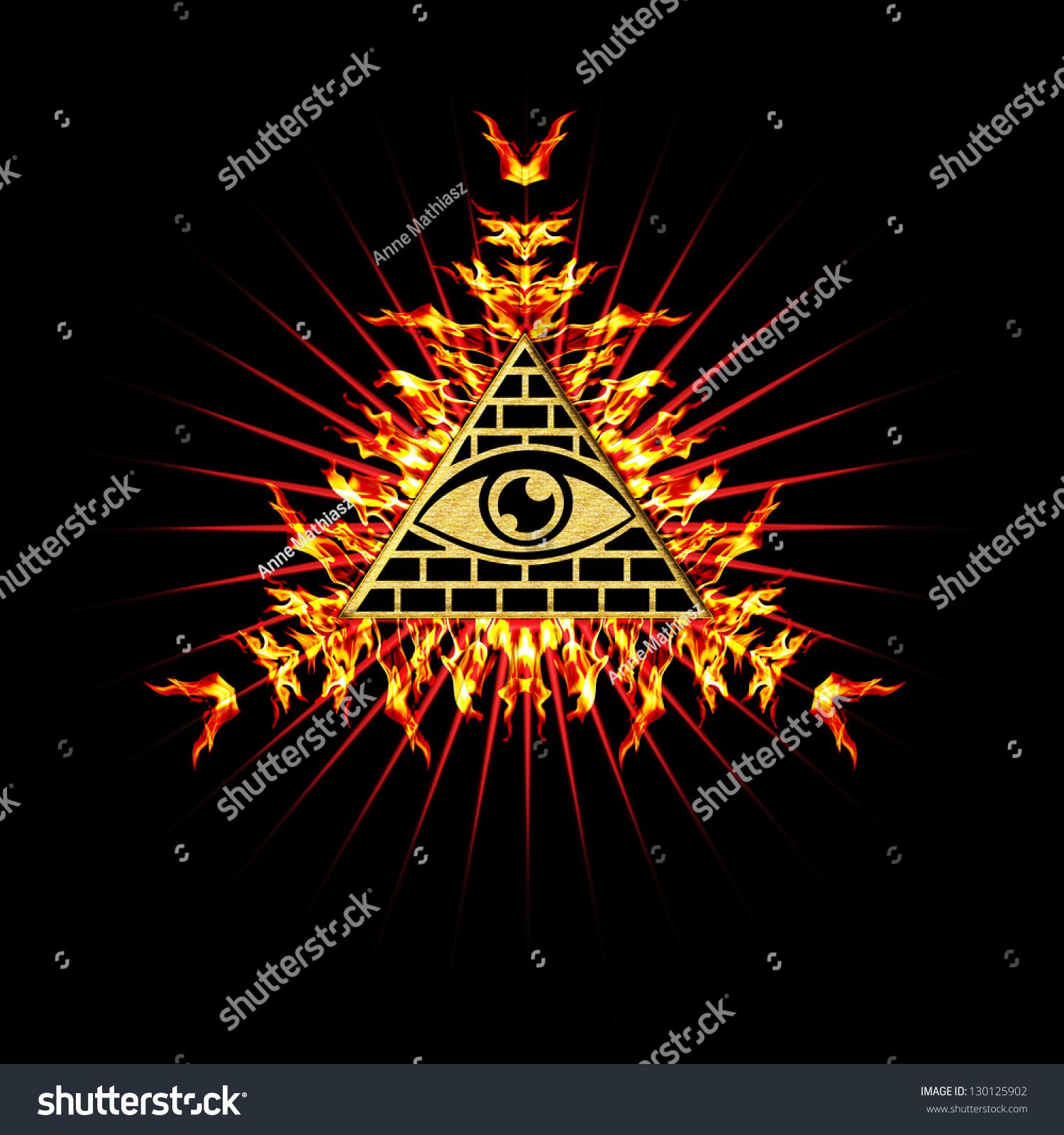 Eye Providence Fire All Seeing Eye Stock Illustration Royalty Free
