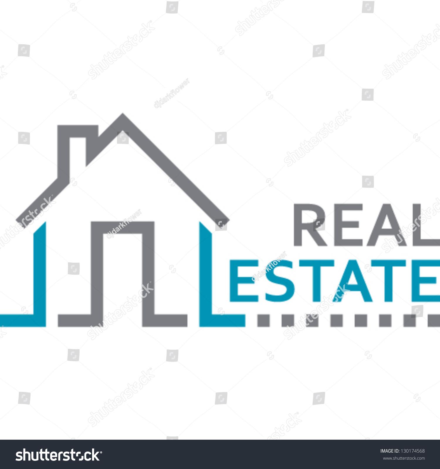 House real estate sign stock vector 130174568 shutterstock for Clipart estate