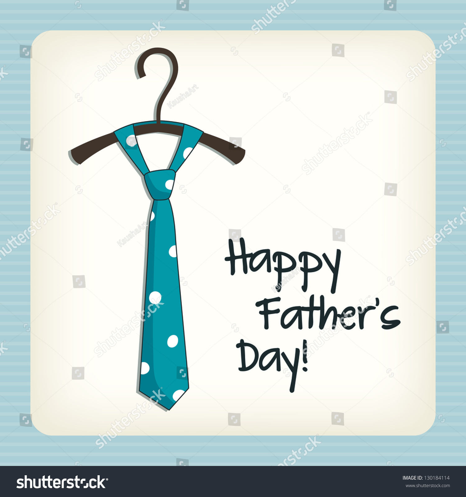 Stock Vector Father Day