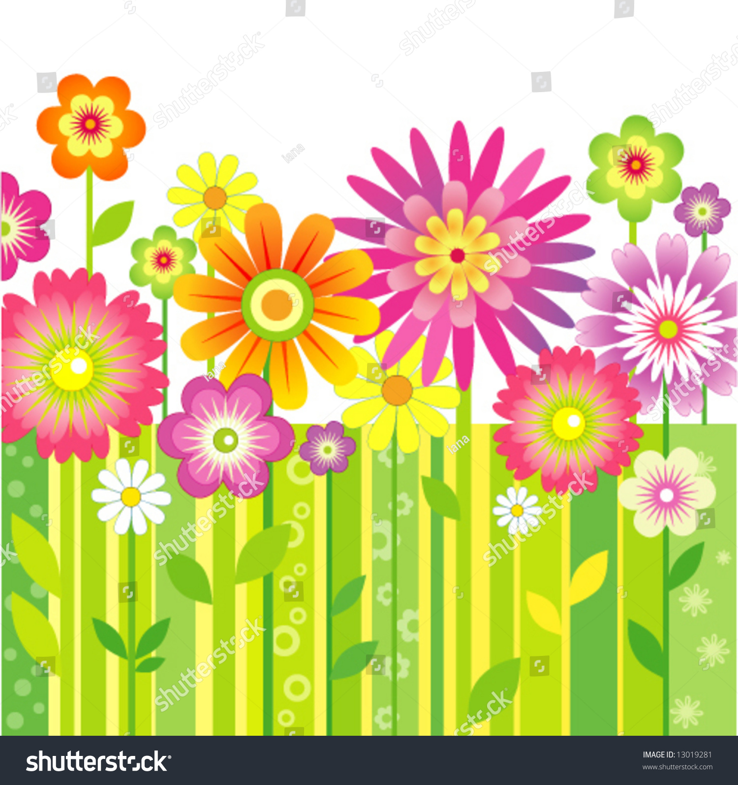 Spring flowers stock vector 13019281 shutterstock for Spring craft shows near me