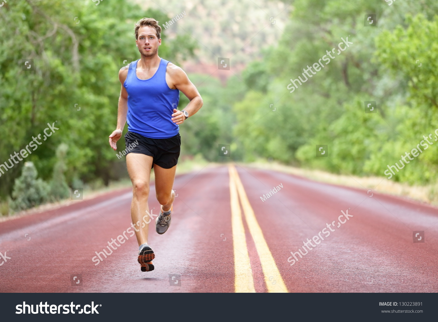 Running Athlete Man Male Runner Sprinting Stock Photo ...