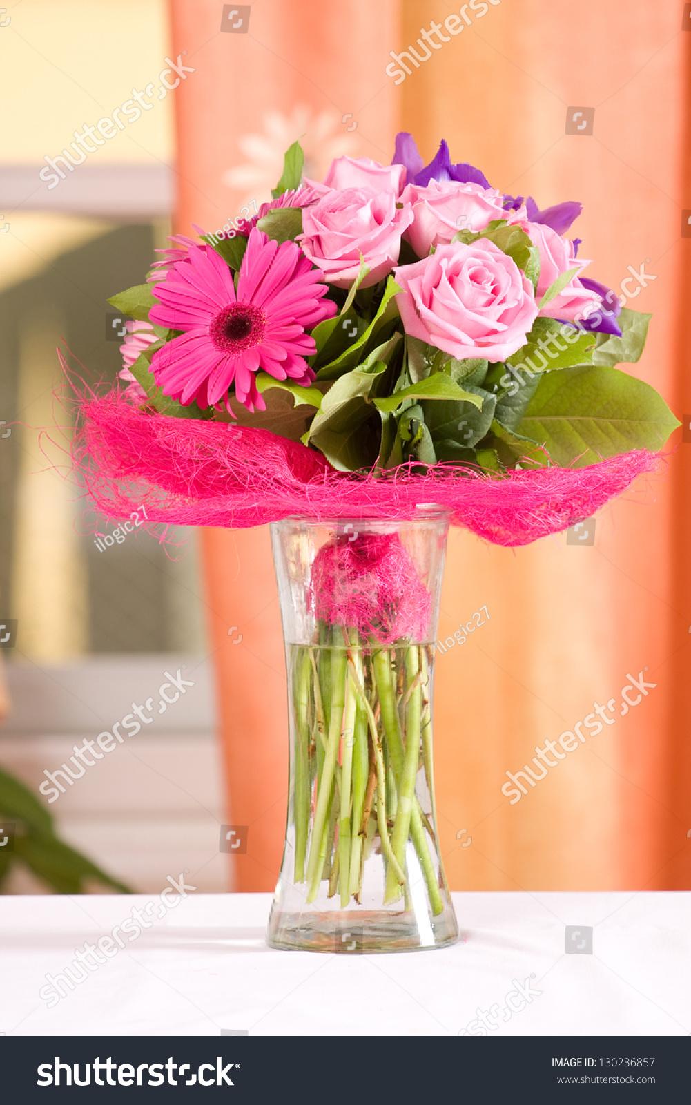 Beautiful flower arrangement vase stock photo edit now 130236857 beautiful flower arrangement in a vase izmirmasajfo