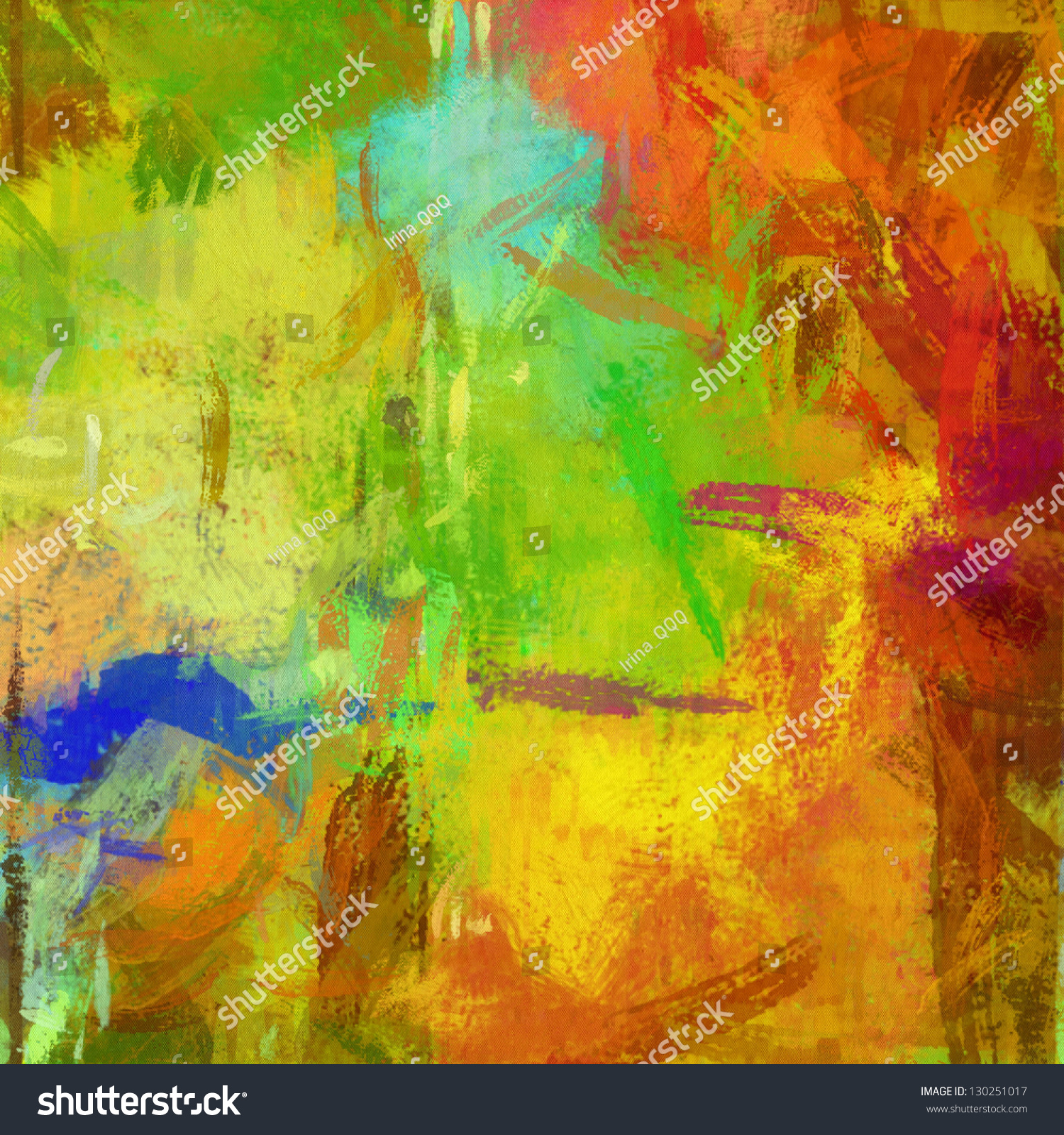 Art Abstract Painted Rainbow Chaotic Background Stock Illustration ...