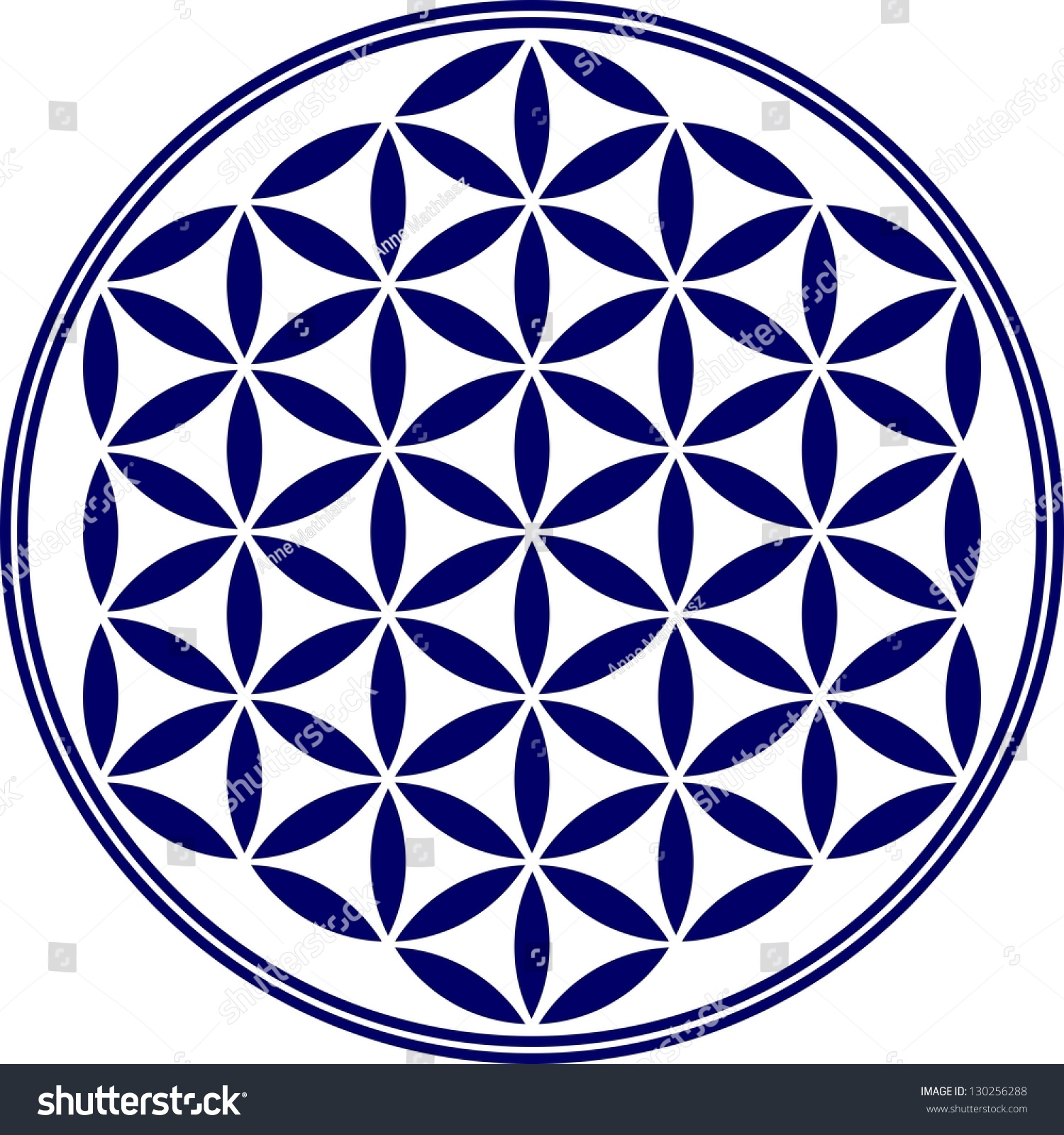 Flower Life Vector Sacred Geometry Symbol Stock Vector Royalty Free