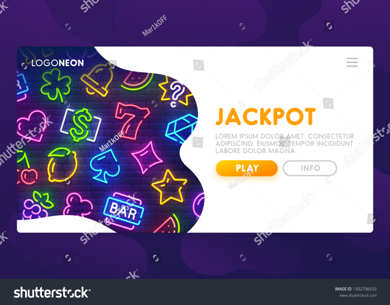 Online Slots Website Winning Jackpot Casino Stock Vector Royalty Free 1302706633