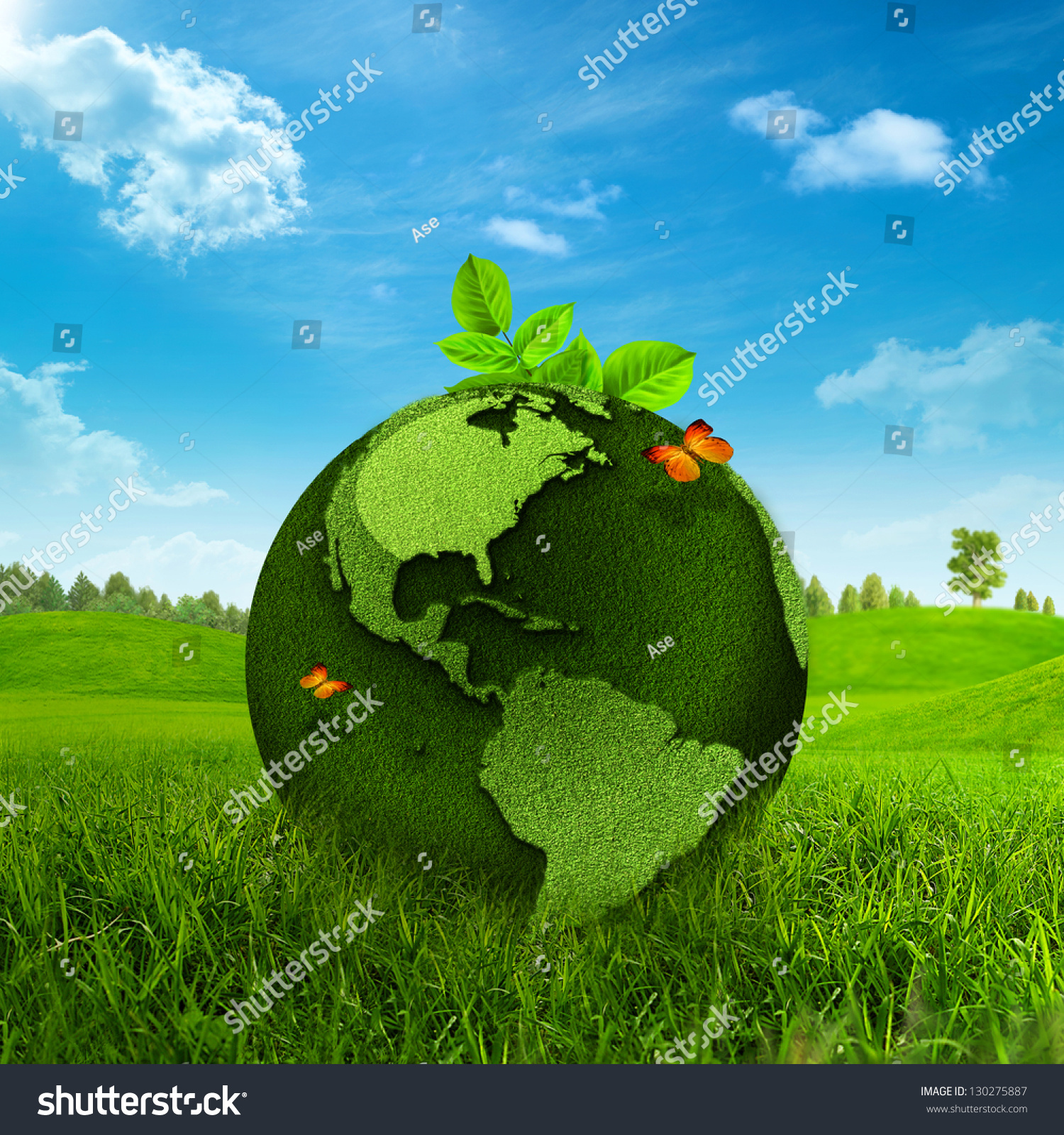 Green Earth. Abstract Environmental Backgrounds Stock