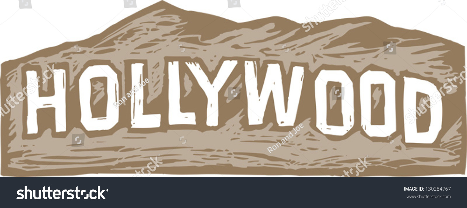 Vector Illustration Of Hollywood Sign