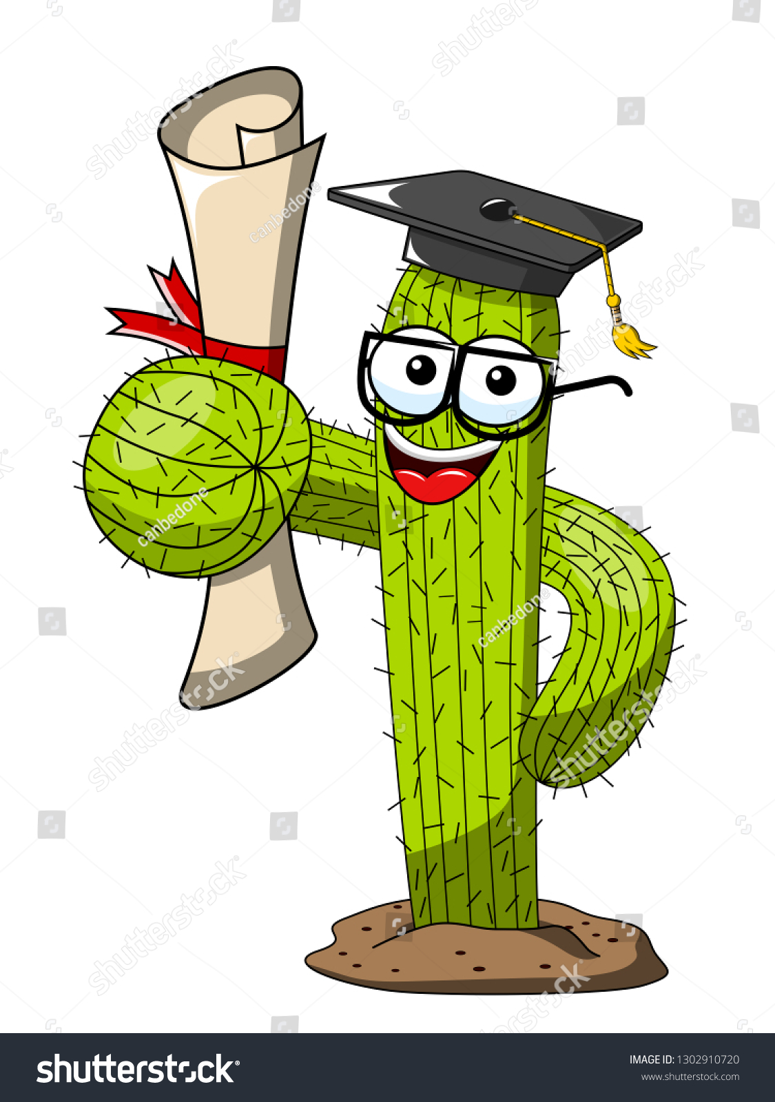 cactus cartoon funny character vector graduated stock vector royalty free 1302910720 shutterstock