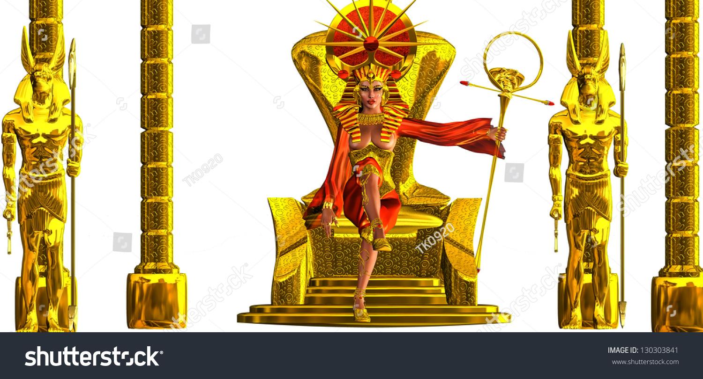 Throne Egyptian Power This Exorbitantly Decorated Stock
