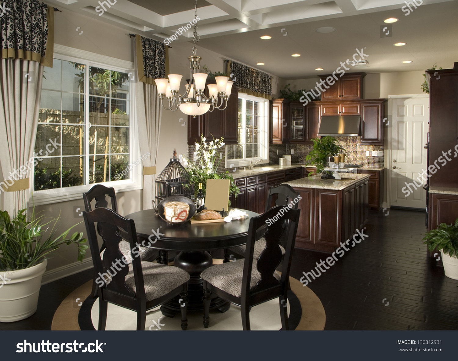 Living Room And Kitchen Elegant Dinning Room Kitchen Architecture Stock Imagesphotos Of