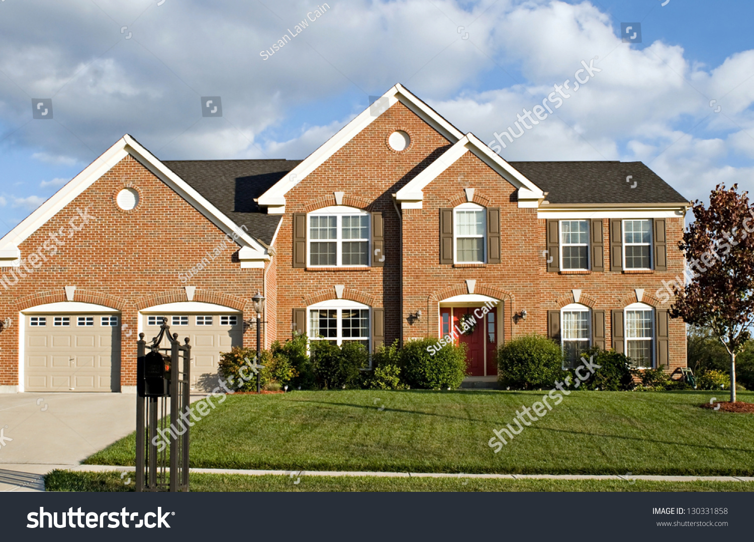 Two Story Brick House Stock Photo 130331858 Shutterstock