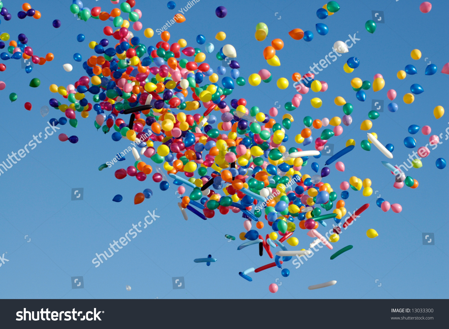 Colored Air Balloons Sky Stock Photo 13033300 - Shutterstock