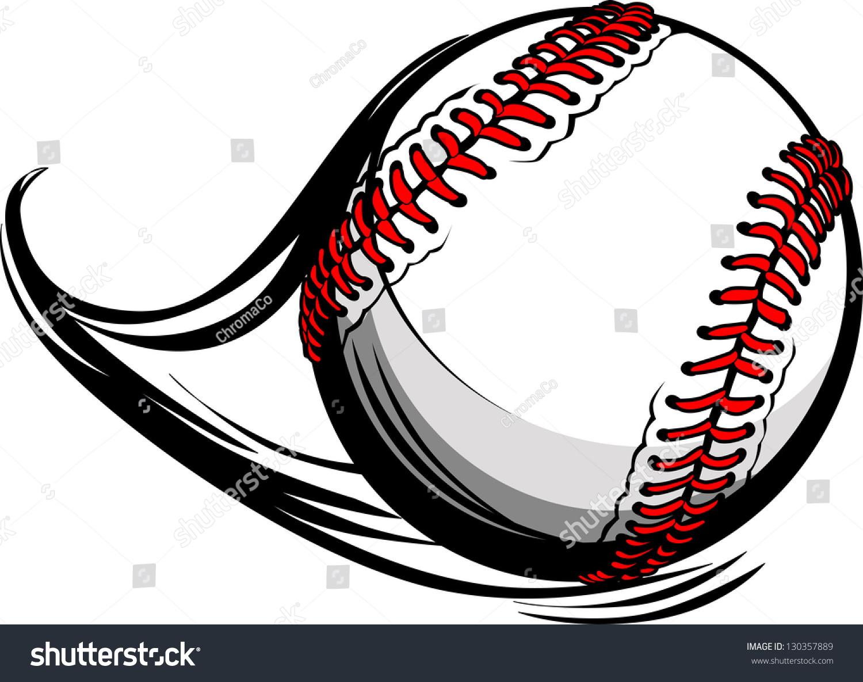 Vector Illustration Softball Baseball Movement Motion Stock Vector ...