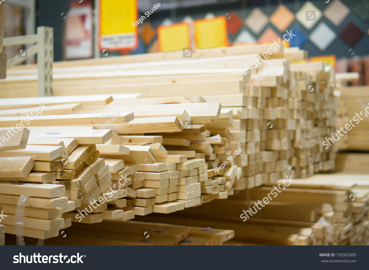 Lumber Boards And Beams Of Different Sizes Lie On Racks